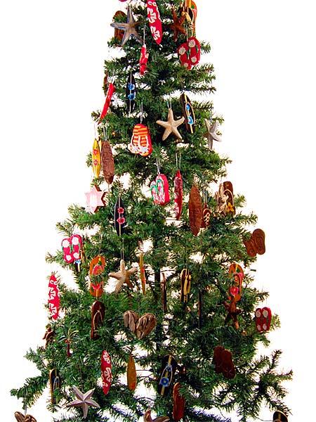 Schmuck Für Weihnachtsbaum.Sandale Weihnachtsbaum Christbaum Schmuck Weihnachtsdeko Surfing Xmas 1417 18