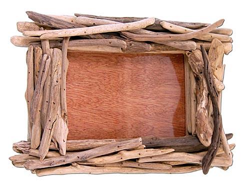 seestern treibholz bilderrahmen f r 10x15 cm fotos wanddeko driftwood holzdeko ebay. Black Bedroom Furniture Sets. Home Design Ideas