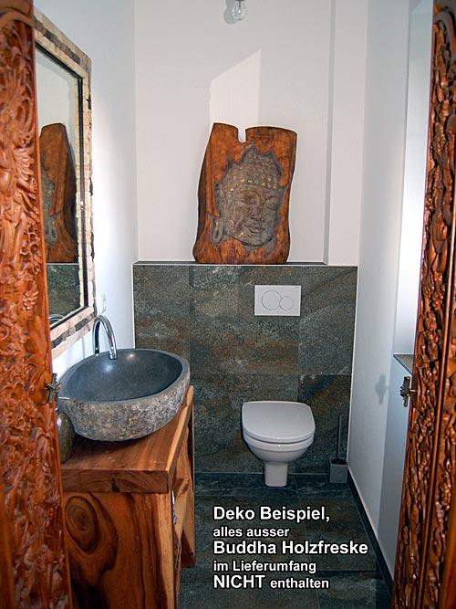 seestern buddha freske statue schnitzkunst von bali aus wundersch nem suar holz. Black Bedroom Furniture Sets. Home Design Ideas