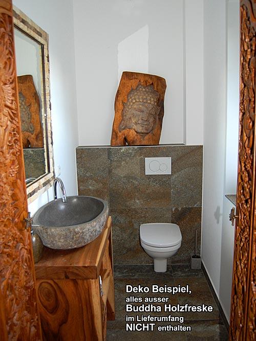 seestern buddha freske statue schnitzkunst von bali aus wundersch nem suar holz ebay. Black Bedroom Furniture Sets. Home Design Ideas