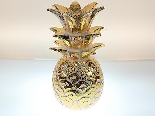 seestern holz deko ananas handgeschnitzt gold lackiert 20 25 30cm ode. Black Bedroom Furniture Sets. Home Design Ideas