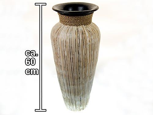 seestern asiatisch mediterrane boden vase tonvase mit sisal verziert 60cm hoch. Black Bedroom Furniture Sets. Home Design Ideas