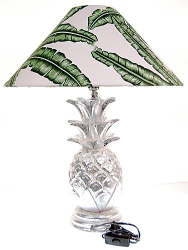 seestern tischlampe ananas silber handgeschnitzte holz beistell lampe. Black Bedroom Furniture Sets. Home Design Ideas