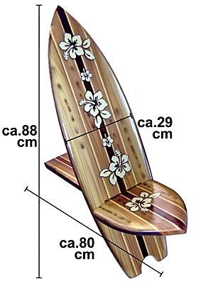 seestern surfboard holz deko stuhl airbrush liegestuhl tropisches m o. Black Bedroom Furniture Sets. Home Design Ideas