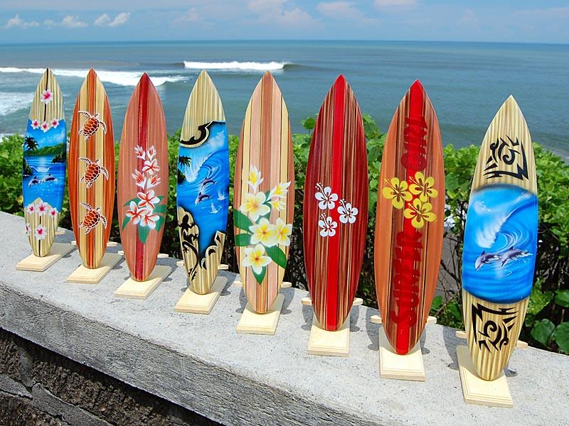 Deko Holz Surfboard 40 Cm Lang Airbrush Design Surfing Surfen Wellenr