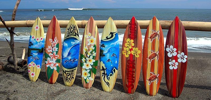 Deko Holz Surfboard 100 Cm Lang Airbrush Design Surfing Surfen Wellen