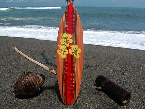 Seestern Sportswear Deko Holz Surfboard 80 Cm Lang Airbrush Design