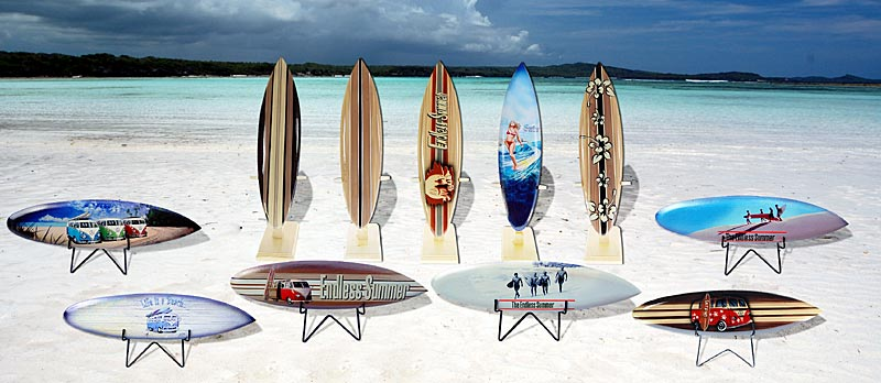Seestern Sportswear Deko Holz Surfboard 30 cm lang Airbrush Design Surfing Surfen Wellenreiten Surf //1862
