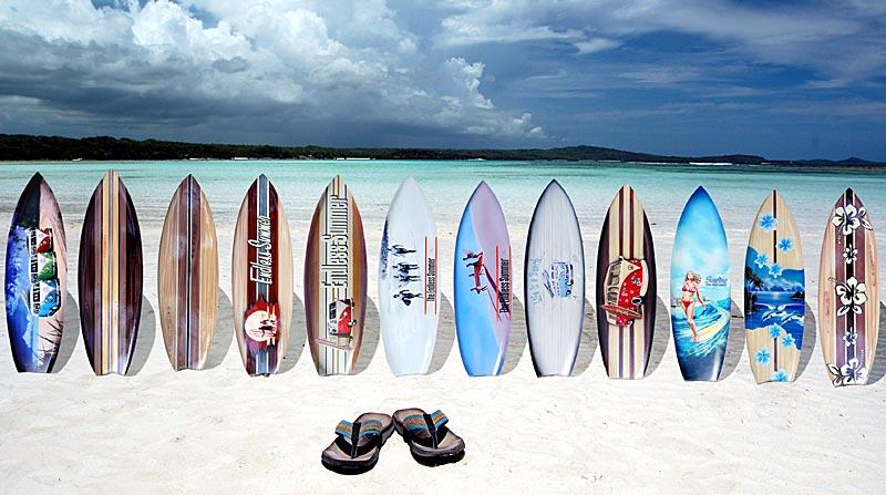 Deko Holz Surfboard 5080 Oder 100 Cm Airbrush Design Surfing Surfen