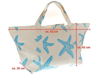5ed34857160e9 SEESTERN große stabile Baumwoll Canvas Strandtasche Beachbag Bade ...