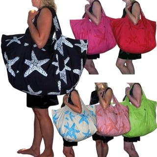 db5e41ff77d33 SEESTERN große stabile Baumwoll Canvas Strandtasche Beachbag Bade Trage  Tasche  1600 ...