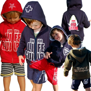SEESTERN Kinder Kapuzen Sweat Jacke Junior Lifeguard Hoody Sweater 92-152