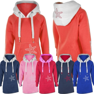 SEESTERN Kinder Langes Kapuzen Sweat Shirt Pullover Hoody Sweater Gr.116-164 /1805